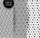 Geometric pattern in op art design. Black and white art. — Stock Vector