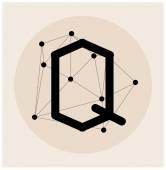 Resumo carta poligonal em estilo cósmico — Vetor de Stock
