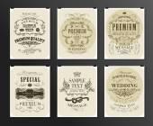 ポスター、チラシ、パンフレットのデザイン テンプレートの設定 — ストックベクタ