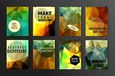 Série d'affiches, prospectus, modèles de conception de brochure — Vecteur