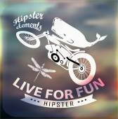 Hipster Quote infographic Background — Stock Vector