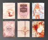 Set of poster, flyer, brochure design templates — Stock Vector