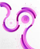 Transparent flat web site, business Infographics, — Stock Vector