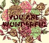 Beautiful flower background art — Stock Vector