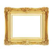 Starožitný zlatý rám izolovaných na bílém pozadí — Stock fotografie