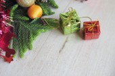 Christmas composition and Christmas decoration — Stock Photo