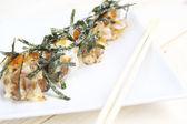 Fried Takoyaki topları hamur tatlısı - Japon yemekleri — Stok fotoğraf