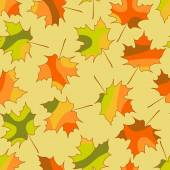 Mosaic maple leaf seamless pattern, vector autumn seamless background — Stockvektor
