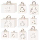 Eco recycle bag collection — ストックベクタ