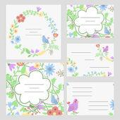 Cute invitation or wedding card — Stock Vector