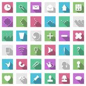 Flache icon-set — Stockvektor