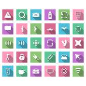 Set di icone piatte — Vettoriale Stock
