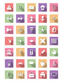 Flat icon set, vector collection — Stockvektor
