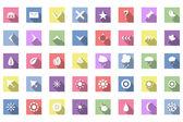 Set di icone di corsa piana — Vettoriale Stock