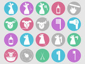 Dog grooming icons set — Stock Vector