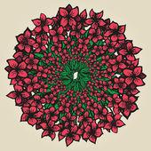 Runde floral Ornament wie Blumenstrauß — Stockvektor