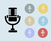Microphone Icon Symbol Vector — Vecteur