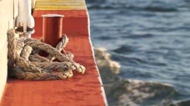 Wake of a cruising Boat — Stock Video