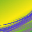 Lime green and yellow gradient background with lilla violet wave fiber lines like smoked style — Stock Photo #72630785