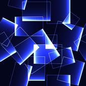 Blue shinning ice blocks on dark background -seamless background — Stock Vector