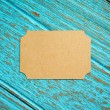 Vintage business card on wood background — Stock Photo #75167181