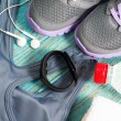 Workout set with heart rate monitor — Stock Photo #76097701