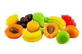 Color jellys in the form of fruit — Stock Photo