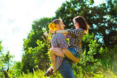 Young happy couple enjoying each other — Stock Photo