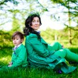 Young mother and her son spending time outdoor — Stock Photo #71926859