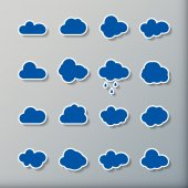 Cloud shapes collection — Stockvector