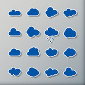 Cloud shapes collection — Stock Vector