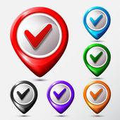 V-icon. Map location icon. — Stock Vector