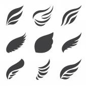 Vleugels set — Stockvector