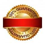 Empty Guarantee golden label — Stock Vector #54596531
