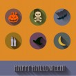 Halloween flat icons set. — Stock Vector #54596859