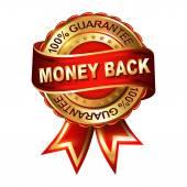 お金の背部保証します。 — ストックベクタ