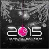 2015 Happy New Year card — Stock Vector