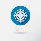 スノーフレークのアイコン — ストックベクタ
