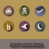 Halloween flat icons set. — Stock Vector