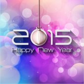 2015 Origami Happy New Year — Stock Vector