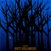 Halloween card or background — Stock Vector