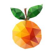 Geometric triangle orange — Stock Vector