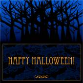 Halloween card or background. — Stock Vector