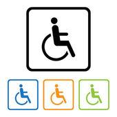 Disabilitato segno icona. — Vettoriale Stock