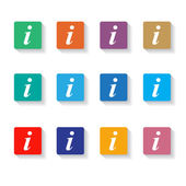 Set of different information buttons — Stock Vector