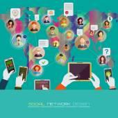 Social network concept. — Stock Vector