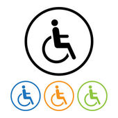 Disabled icon sign. — Stock Vector