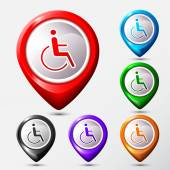 Set of Map Location disabled icon sign. — Stockvektor