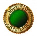 Empty anniversary golden label. — Stock Vector #59477029