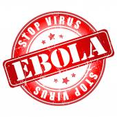Ebola Stop Virus stamp. — Stock Vector